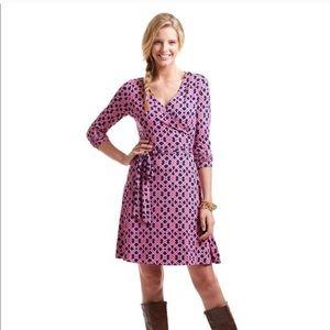Vineyard Vines Lattice Wrap Dress